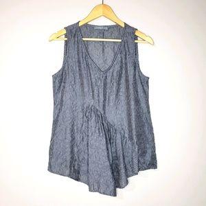🦋3/$25 Cut Loose Sleeveless Blue Striped Top